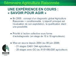 chambre agriculture 31 de l agriculture raisonnee a l agriculture durable ppt