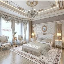 luxury bedroom and white beautiful chandelier luxurious