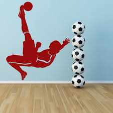 football wall stickers iconwallstickers co uk football kick player ball goal football wall stickers sports decor art decals