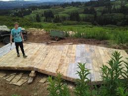 building the big horn tent platform picture of camp homer