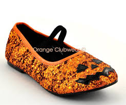 Girls Pumpkin Halloween Costume Kids Girls Glitter Halloween Pumpkin Orange Glitter Costume Shoes
