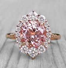 diamonds sapphire rings images Peach champagne sapphire engagement ring diamond halo kristin jpg