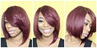 can you cut the weave hair off red razor cut quick weave bob tutorial chimerenicole youtube
