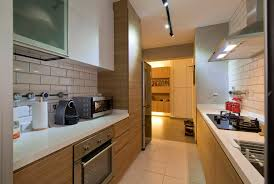 love white wood grain kitchen dislike clutter narrow