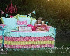 Custom Girls Bedding by Kumari Garden Teja Pink Twin Daybed Comforter Attached Dust