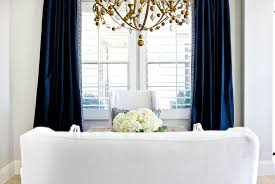 Greek Key Trim Drapes A Glamorous Dining Room In Navy White And Gold U2014 Studio Mcgee
