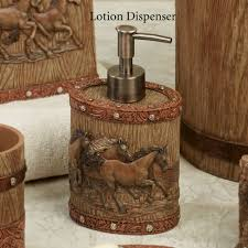 marvelous bathroom accessories brown interior design in western