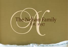 personalized family name sign name wall decal family wall zoom