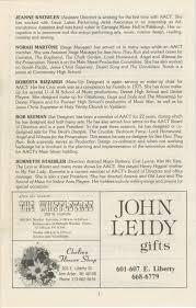 Madeline Leidy Ann Arbor Civic Theatre Program On Golden Pond February 23 1983
