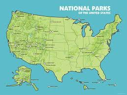 map of us states poster us national parks map 18x24 poster 2015 best maps