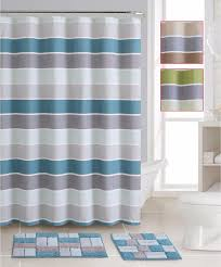 shower curtain sets with rugs striped shower curtain bath rug mat set cotton curtains
