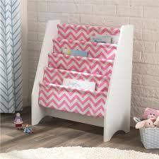 sling bookshelf white u0026 pink pattern