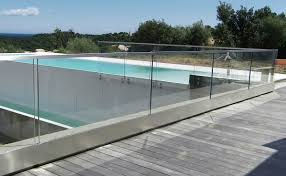glass railing glass panel outdoor for balconies raily