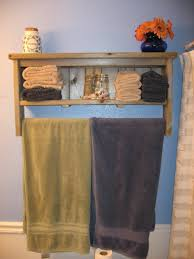 Bathroom Shelves For Towels Bathroom Shelf With Towel Bar My Web Value
