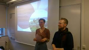 Erika and Axel     s master thesis presentation    St Catherine Sweden St Catherine Sweden Erika Bergstr  m and Axel Thor  n presented their master thesis based on the work they did in Muhanga this autumn  The reviews where incredibly positive and