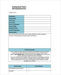 sample student risk assessment forms 9 free documents in word pdf