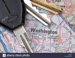 Map Of Washington D by A Close Up Of A Map Of Washington D C With Car Keys Stock Photo