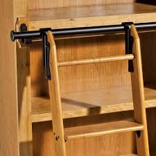 Sliding Bookshelf Ladder Pleasant Sliding Ladder System Roselawnlutheran