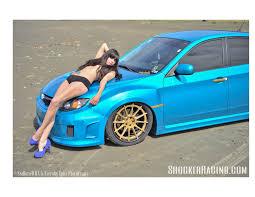 subaru wrx custom blue dragonstone with her 2014 subaru wrx hatch