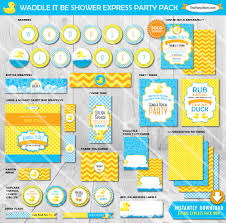 waddle it be gender reveal party decorations printable party
