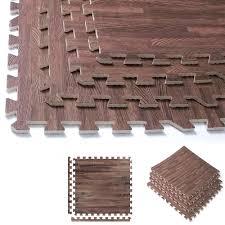 Norsk Interlocking Floor Mats by 32 Sqft Dark Soft Wood Grain Eva Mats Foam Interlocking Flooring