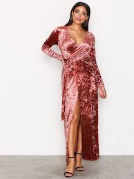 glamorous clothing velvet wrap dress glamorous dusty pink party dresses