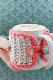 how to make a chunky crochet mug cosy chunky crochet cosy and