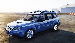 blue subaru forester subaru forester polizia els gta5 mods com