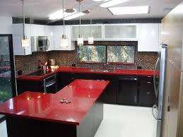 delightful sublime frosted glass door red kitchen cabinets design