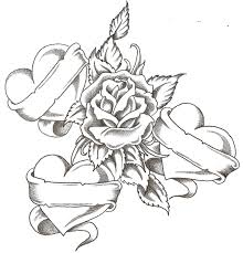 roses hearts coloring pages interesting cliparts