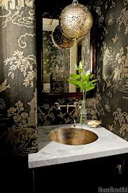 Toile Bathroom Wallpaper by 17 Best Bath U0026 Powder Rooms With Style Images On Pinterest Live