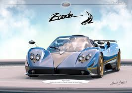 blue pagani zonda pagani decides to build a new zonda for customer of tuning firm