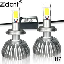 le h7 led zdatt 2pcs bright h7 led bulb 60w 6000lm headlights auto led