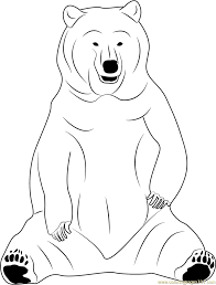 black bear sitting coloring page free bear coloring pages