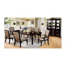 Dining Room Table And Hutch Sets Furniture Of America Harrington Dining Set Collection Dark Walnut