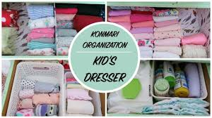 konmari home organization kid u0027s clothing dresser youtube