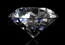 black diamond diamond on black background high resolution 3d image stock