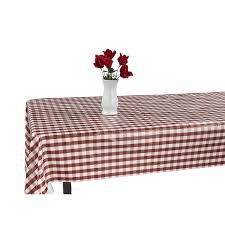 Patio Party Vinyl Tablecloth by Amazon Com Berrnour Home Vinyl Tablecloth Blue Checkered Design