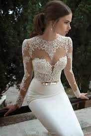 lace wedding gown white lace wedding dresses vestidos de noiva sleeves