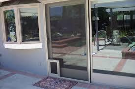 Screen Doors For Patio Patio Ideas Sliding Screen Pet Door With Patio Door Design Ideas