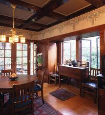 Arts And Crafts Dining Room Set Arts U0026 Crafts Wallpaper Craftsman Style Wallpaper Natural
