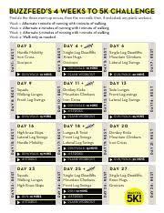 Challenge Buzzfeed Bf 4weeks5k 2017 Calendar Buzzfeed S 4 Weeks To 5k Challenge