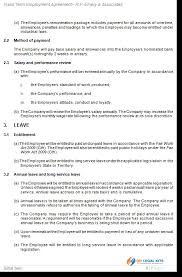 fixed term employment contract template