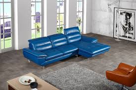 Leather Sectional Sofa Chaise by Casa Hobart Modern Blue Leather Sectional Sofa
