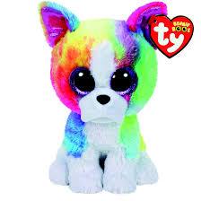 ty beanie boo large isla rainbow bulldog soft toy claire u0027s ca