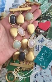 rivka friedman bracelet rivka friedman bracelet 18kgold clad 3 row toggle quartz jade