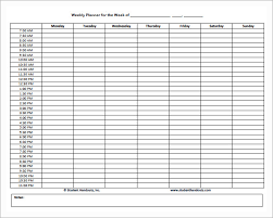 daily and hourly schedule template free vlcpeque