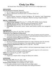 Resume Examples Computer Science by Political Science Resume Sample Http Resumesdesign Com