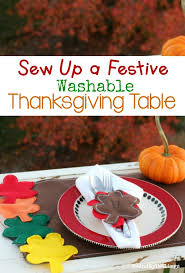 washable thanksgiving placemats and napkin rings