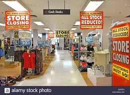 england uk interior bhs store placards for holding closing down